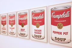 Soup cans Stock Images