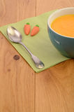 Soup of carrots Royalty Free Stock Photos