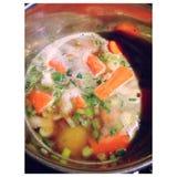 Soup. Carrots food soup aardappel groente soep food Stock Images