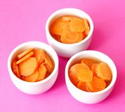 Soup of carrots Stock Photography