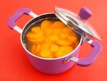 Soup of carrots Stock Image
