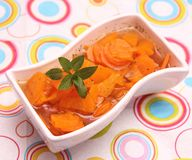 Soup of carrots Royalty Free Stock Images