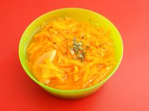 Soup of carrots Royalty Free Stock Photography