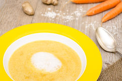 Soup with carrots and ginger Royalty Free Stock Photo