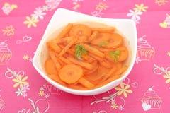 Soup of carrots Stock Photos