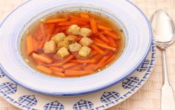 Soup with carrots Stock Image