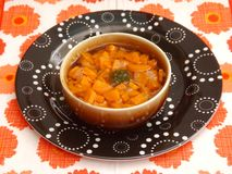 Soup of carrtots Royalty Free Stock Photo