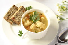 Soup with cauliflower Stock Photo