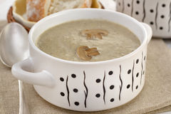 Soup with champignon Stock Photo