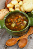 Soup with Chanterelle Mushrooms Royalty Free Stock Photo