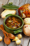 Soup with Chanterelle Mushrooms Royalty Free Stock Photography