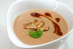 Soup from chestnuts Stock Photo