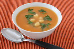 Soup with chick-pea Stock Images