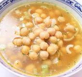 Soup of chick peas Royalty Free Stock Photos
