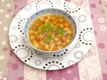 Soup of chick peas Stock Photo