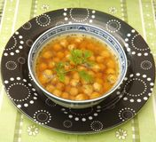 Soup of chick peas Royalty Free Stock Photo
