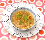 Soup of chick peas Royalty Free Stock Photography