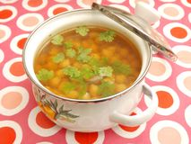 Soup of chick peas Stock Images