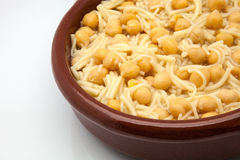 Soup of chick-peas Royalty Free Stock Photos