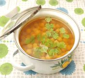Soup of chick peas Royalty Free Stock Image