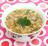 Soup of chick peas Stock Photos
