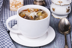 Soup with chicken giblets Royalty Free Stock Photo