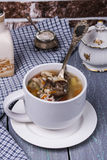 Soup with chicken giblets Royalty Free Stock Image