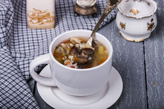 Soup with chicken giblets Royalty Free Stock Photos