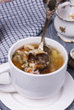 Soup with chicken giblets Stock Photography