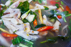 Soup chicken spicy Stock Photography