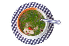 Soup with chicken and vegetables Stock Photos