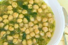 Soup with chickpea Royalty Free Stock Photography