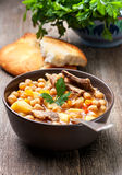 Soup with chickpeas and lamb Royalty Free Stock Photography