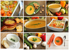 Soup collage Royalty Free Stock Photography
