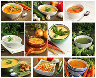 Soup collage Stock Photography