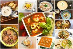 Soup Collage Stock Image