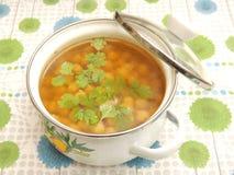 Soup of corn Stock Photo