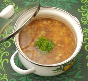 Soup of corn Royalty Free Stock Photography