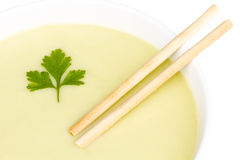 Soup-of-courgette Stock Photo