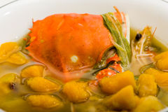 Soup with crab Royalty Free Stock Images