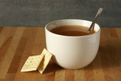 Soup and Crackers Royalty Free Stock Photo