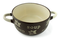 Soup Crock Bowl isolated Royalty Free Stock Image