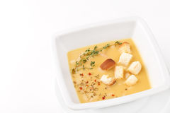 Soup with Croutons Royalty Free Stock Photos