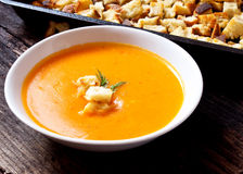 Soup with croutons Stock Photos