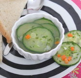 Soup of cucumber Stock Photo