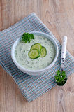 Soup of cucumber Stock Image