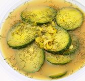 Soup of cucumber Royalty Free Stock Photography
