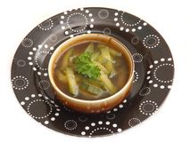 Soup of cucumber Royalty Free Stock Images