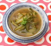 Soup of cucumber Stock Photos