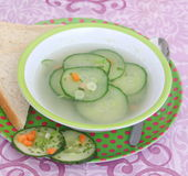 Soup of cucumber Stock Images